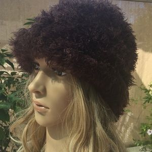 Brown Fuzzy Hat